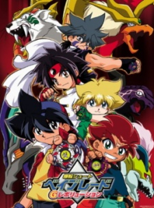 image of anime Bakuten Shoot Beyblade G Revolution