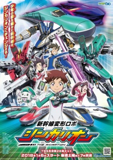 image of anime Transformable Shinkansen Robot Shinkalion